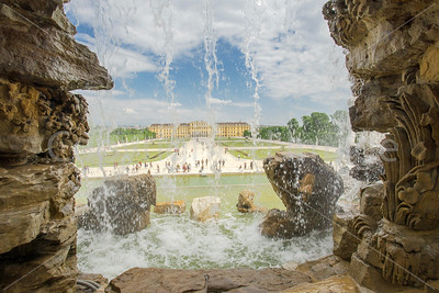 The Palace through a waterfall