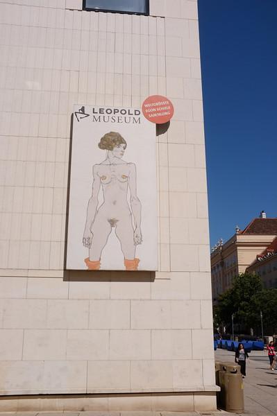 Vienna, Austria 2014. Leopold Museum poster for Egon Schiele Exhibition