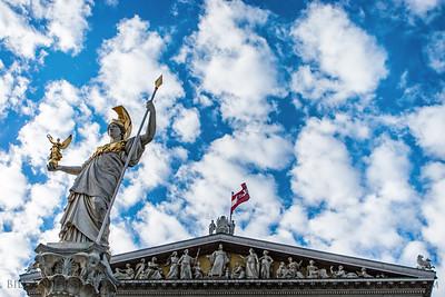Austrian Athena  Austrian Parliament Building, Vienna, Austria