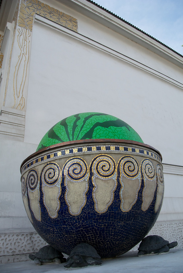 Vienna: Detail, Secession Bldg, with watermelon
