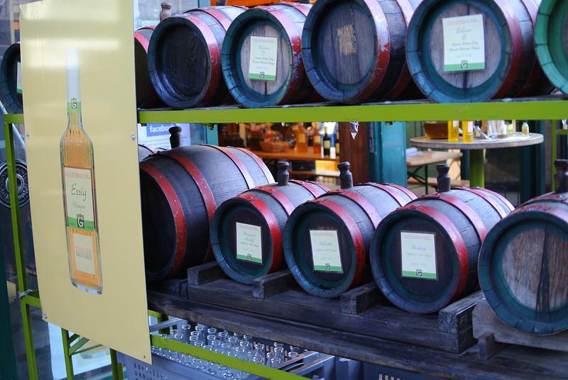 Vienna, Austria 2014. Apple cider kegs