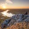 Hainburg and Danube river, Austria