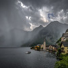 Thunderstorm approaching the picturesque town Hallstatt