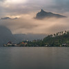 Foggy day on Traunsee