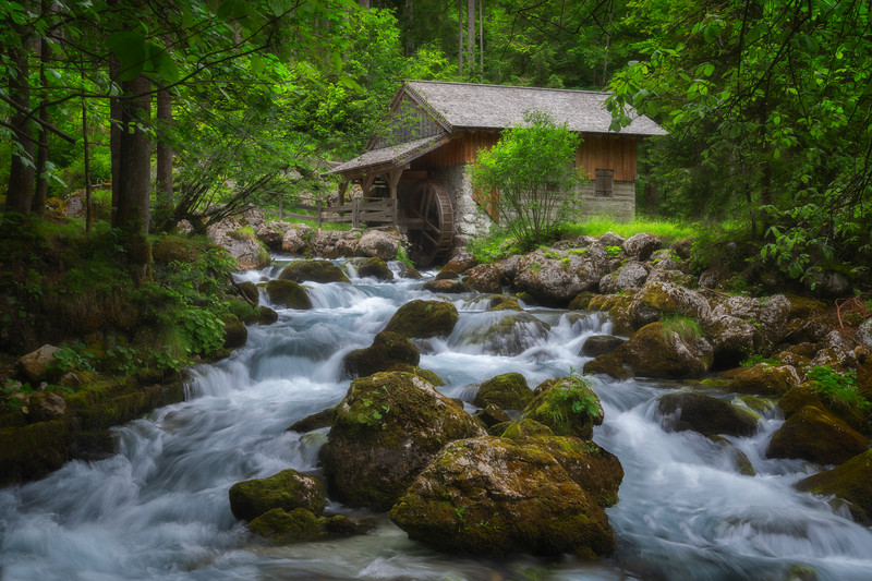 The Mill at the Gollinger Waterfall
