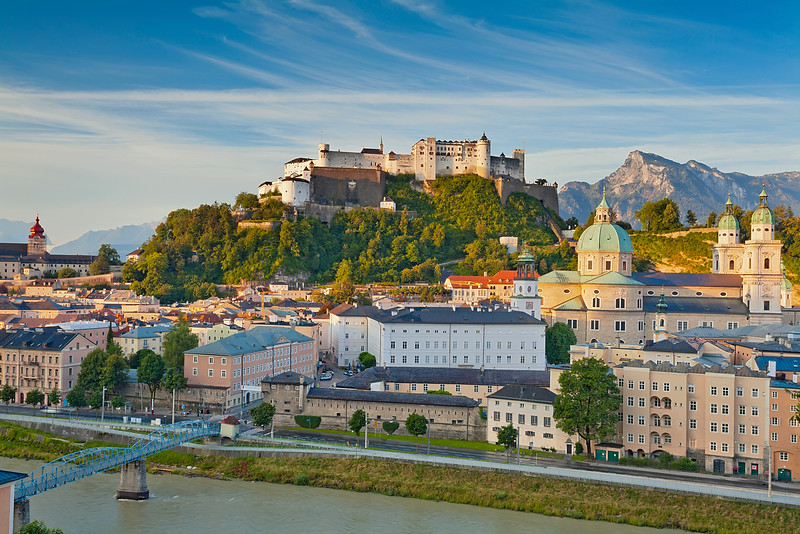 Salzburg, Austria. Image of Salzburg during sunny summer morning.