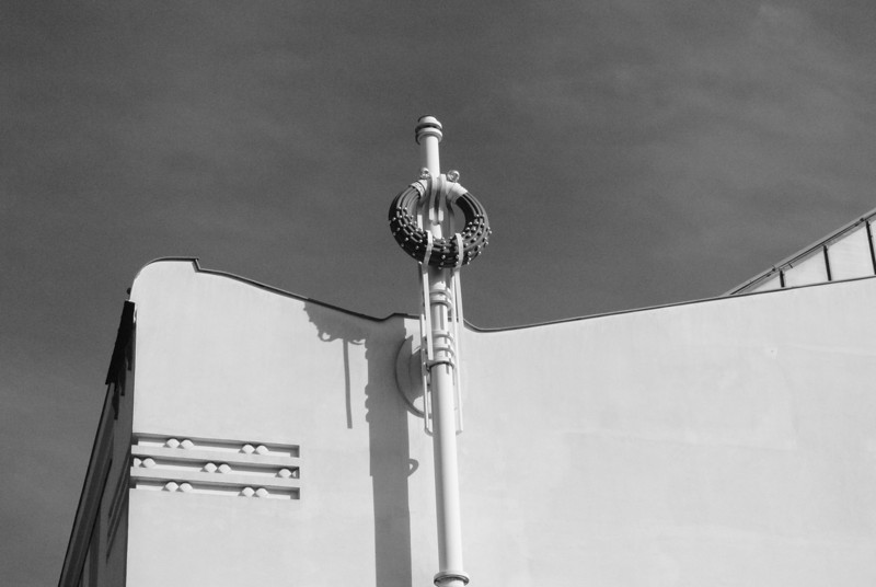 Vienna: Detail, back of Secession Bldg, 2012