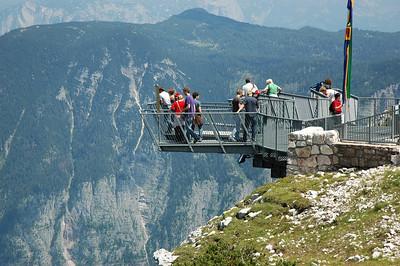 The 5 Fingers viewing platform above Hallstätter See.