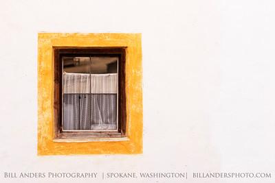 Yellow Window.    Hohensalzburg Castle, Salzburg, Austria.