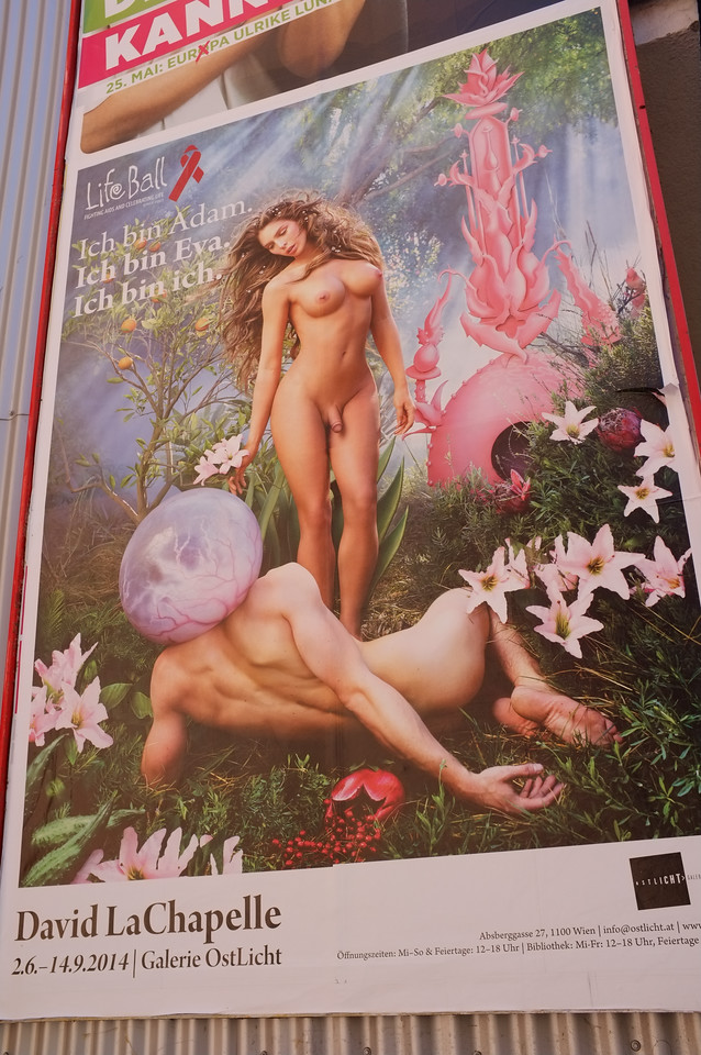 "Vienna, Austria 2014. Poster, ""Life Ball. Fighting Aids & Celebrating Life , since 1993"""