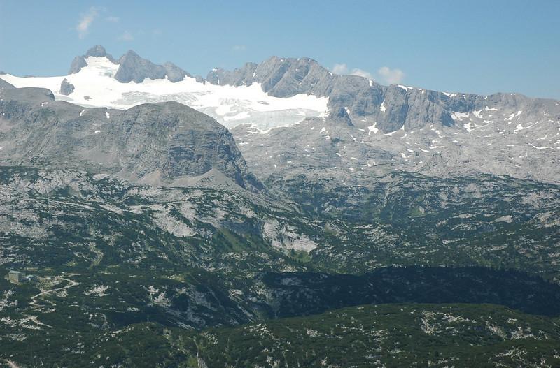 Glacier above Hallstätter See.