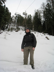 David Walking Beneath the Rosshutte Chair Lift