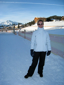 Margaret at the Nursery Slopes in Seefeld