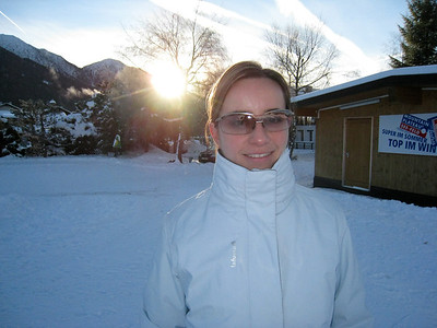 Margaret at Sunrise in Seefeld