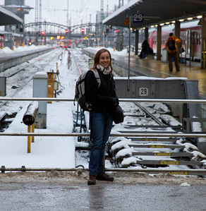 Margaret Waiting for Train to Seefeld