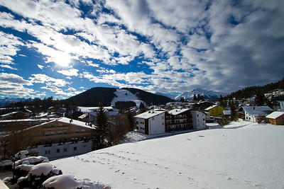 Seefeld Village - The View From Our Hotel Room Balcony