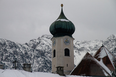 Church in the Alps - Train from Munich to Seefeld