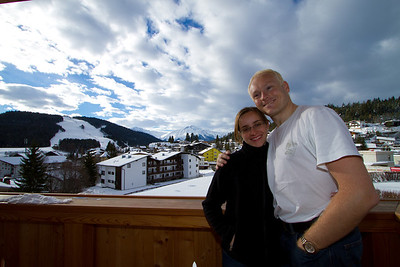 David and Margaret on Our Hotel Balcony at Seelos Hotel, Seefeld