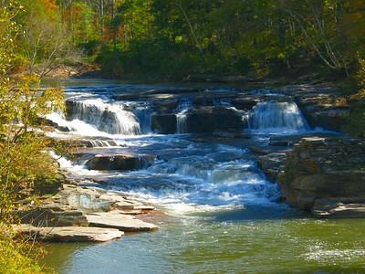 Roadside waterfall along route 23.