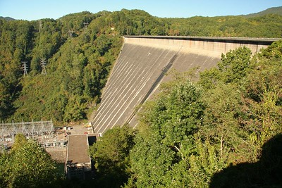 Fontana Dam in NC. The highest Dam East of the Rockies.