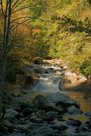 Cascades on the Cullasaja River near Highlands, NC.