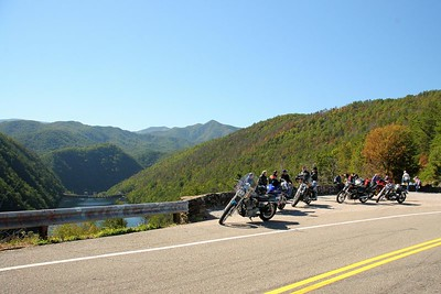 """Calderwood Dam overlook on the """"Tail of the Dragon."""""""