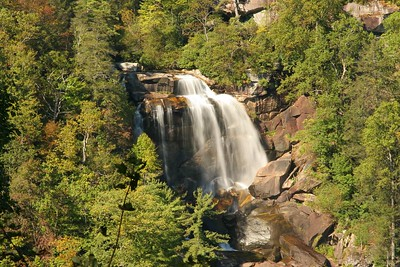 Upper Whitewater Falls on the Whitewater River near Lake Toxaway, NC.