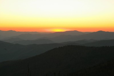 Sunset on Clingman's Dome in Great Smoky Mountain NP.