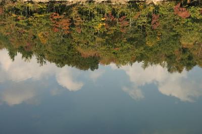 Reflection on Nantahala Lake.