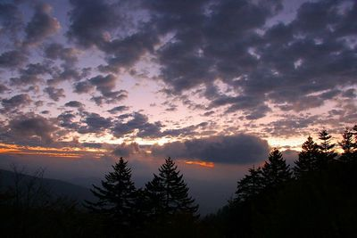 Sunrise on Clingman's Dome.
