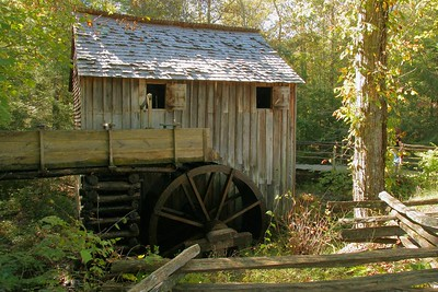 The John P Cable Grist Mill in Cades Cove.