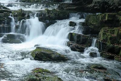 Nantahala River cascades.