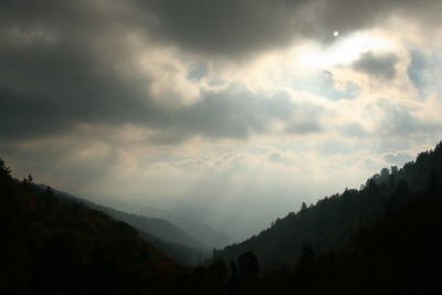 Cloudy vista from the Blue Ridge Parkway in NC.