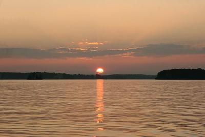 Sunset on Smith Mountain Lake, VA.