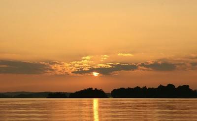 Sunset on Smith Mountain Lake, VA