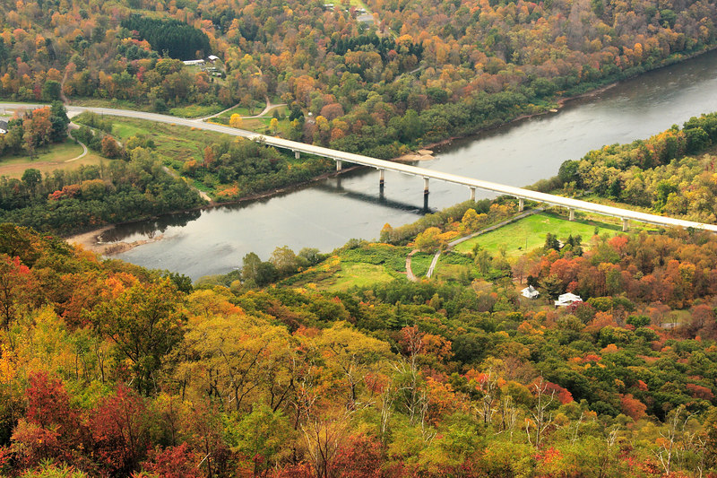 Another view of the West Branch of the Susquehanna River from Hyner View SP, PA.