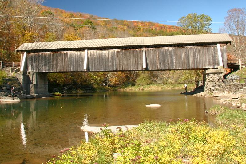 Beaver Kill covered bridge.