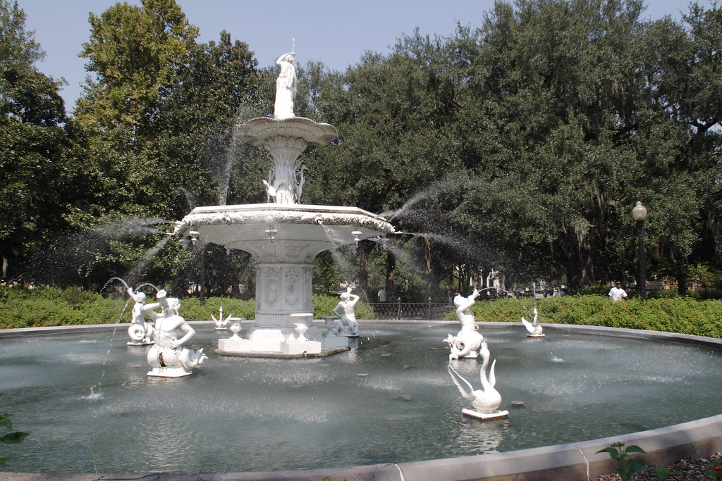 Forsyth Park, the biggest in Savannah.  Nice during the day, but don't spend the night.  © Shams Tarek (www.shamstarek.com)