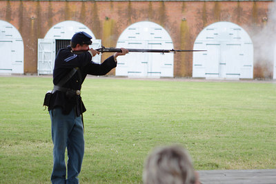 Fort Pulaski, between Savannah and the Atlantic Ocean two miles away and the largest brick fort on the East Coast, or something like that.  Many brutal Civil War battles were fought here.  © Shams Tarek (www.shamstarek.com)
