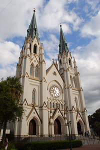St. John the Baptist Cathedral, the largest in the Southeast.  The interior is comparable in scale and decoration to New York City's St. Patrick's Cathedral.  © Shams Tarek (www.shamstarek.com)