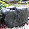 Large tamari-ishi collected by Mrs. Iwata's grandfather; Iwata family garden, Yamagata City, October 2007