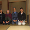 Tea room at the Maple Garden, Yamagata City; Mas, Janet, Tea Master, Mr. Iwata; October 2007<br /> <br /> The temple located in the maple garden was originally built by the local daimyo, but is now owned by the city who had this tea house built by Kyoto craftsmen. We were so fortunate to be served tea by the head tea master for the entire Yamagata prefecture.