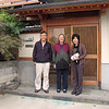 Janet with Mr. and Mrs. Iwata in front of their house; Yamagata city; October 2007