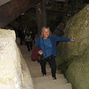 Janet climbing the 1015 steps to Yama-dera; Yamagata; October 2007<br /> <br /> If you go there, wear your comfortable shoes!