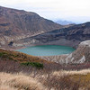 Okama lake at Mount Zaō (蔵王山); October 2007; <br /> <br /> Mt. Zao is Japan's most active volcano.  Okama lake is also known as goshiki numa or five-color pond, because it changes color frequently.