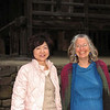 Ikuko Iwata and Janet at the top of Yamadera; Yamagata; October 2007<br /> <br /> It's a long climb, but well worth it.