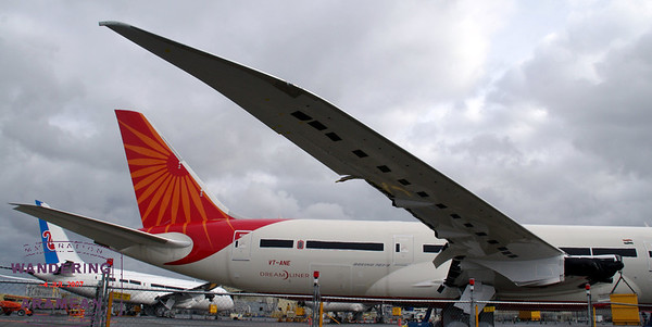 Air India's 787 takes flight. Sortof.