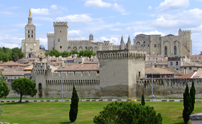 The Palais des Papes which was built for Pope Clement V.  He abandoned Rome and moved to Avignon, France in 1309.