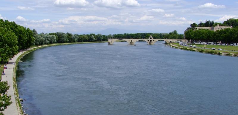The Pont St-Benezet - a medieval bridge that was to be torn down until citizens protested.