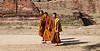 Monks at Wat Phra Si Sanphet, Ayutthaya